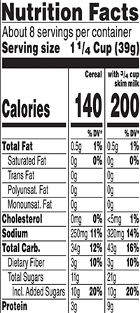 special k nutrition facts